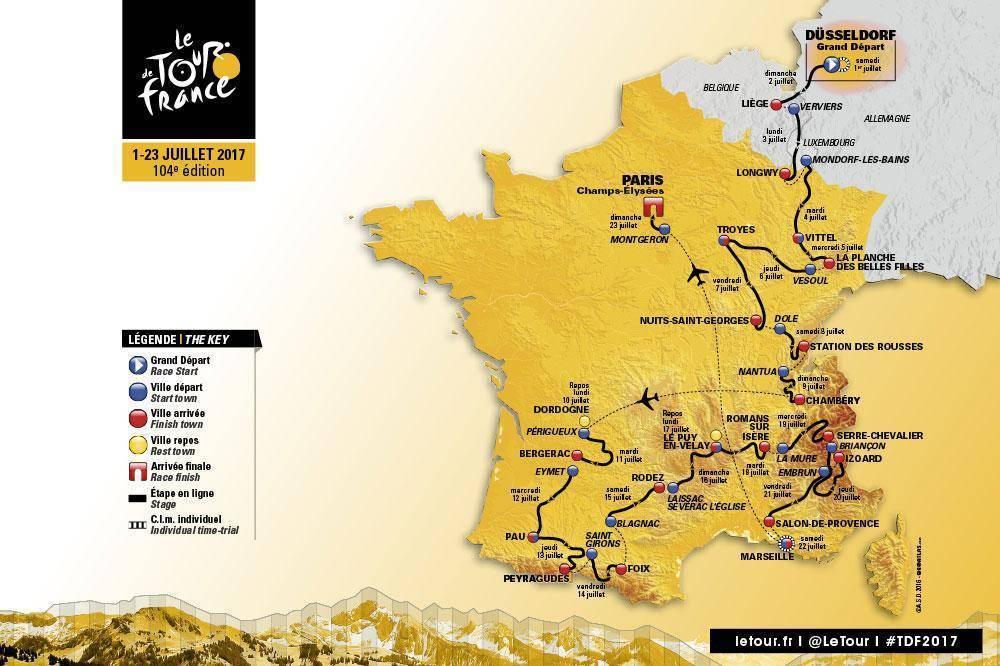 Tour-de-France-2017-route