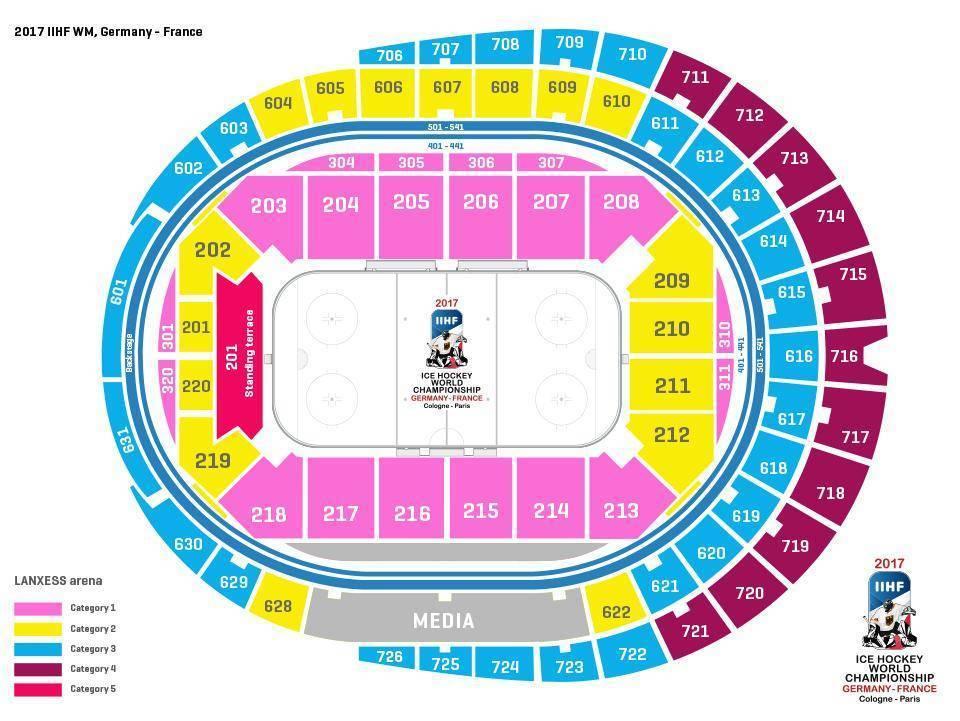 ms v hokeji 2017 mapa stadiona kolin