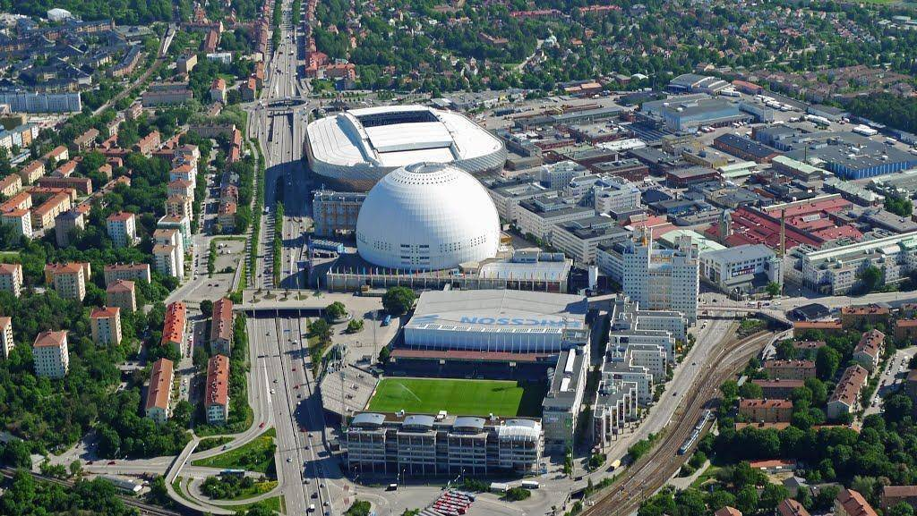 friends arena from above