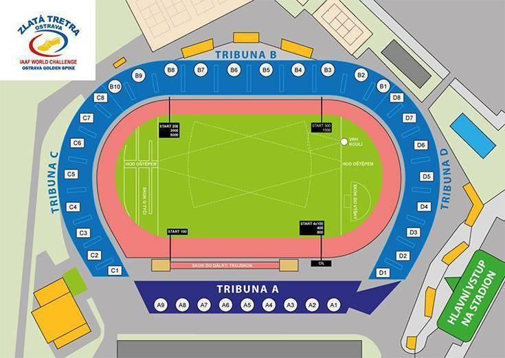 ostrava stadion plan