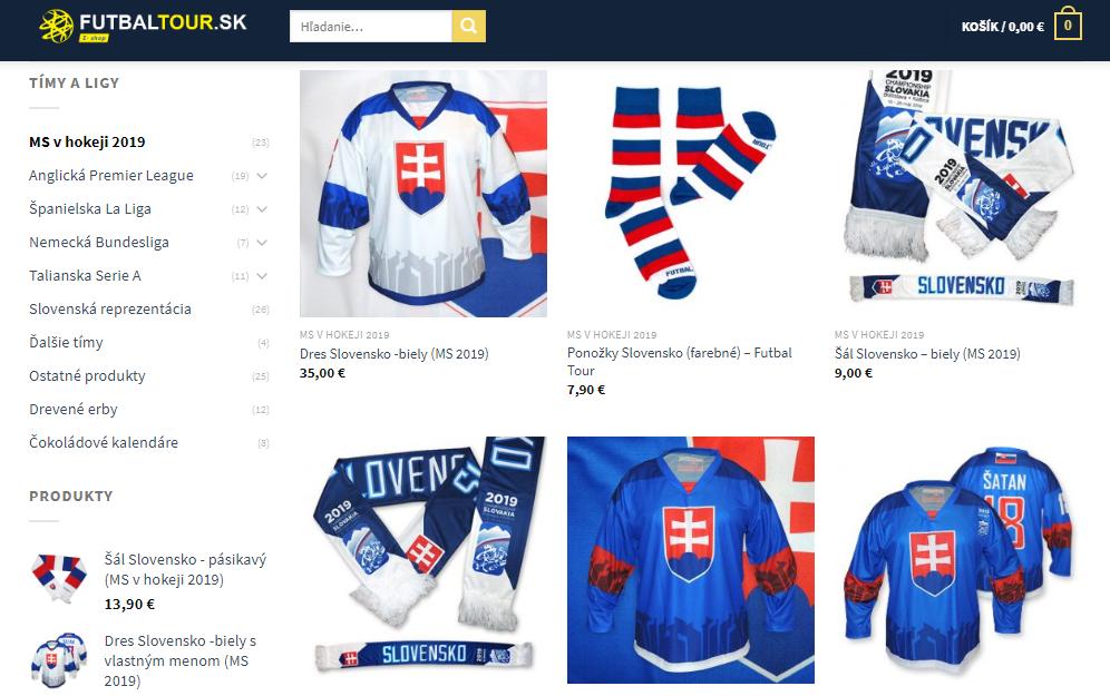 b2dc3621c25a0 Kompletnú výbavu všetkého, čo musí mať každý správny Slovák a Slovenka  počas hokejového šampionátu, nájdete na webe nášho e-shopu.