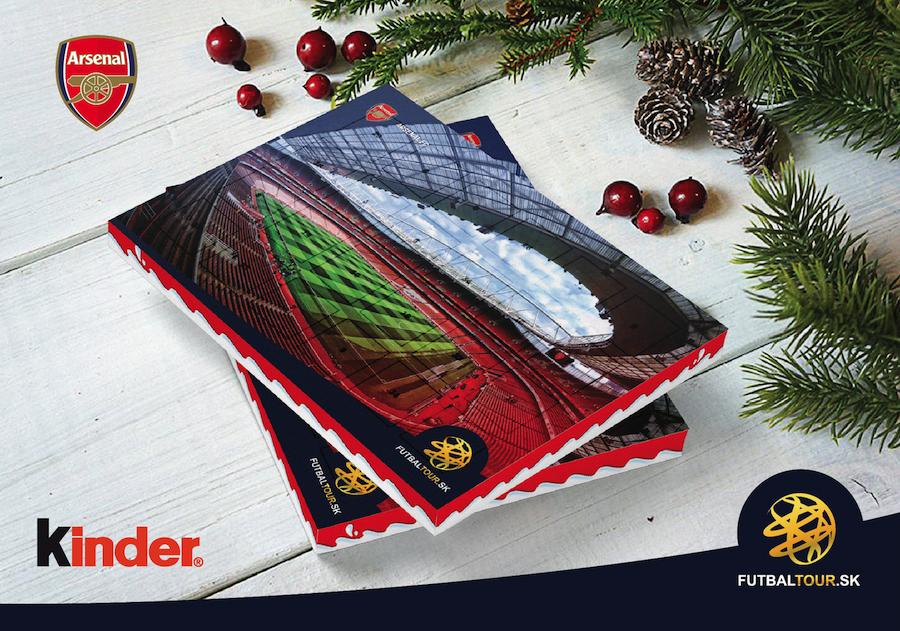 futbalovy adventny kalendar arsenal