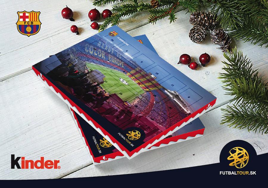 futbalovy adventny kalendar barcelona