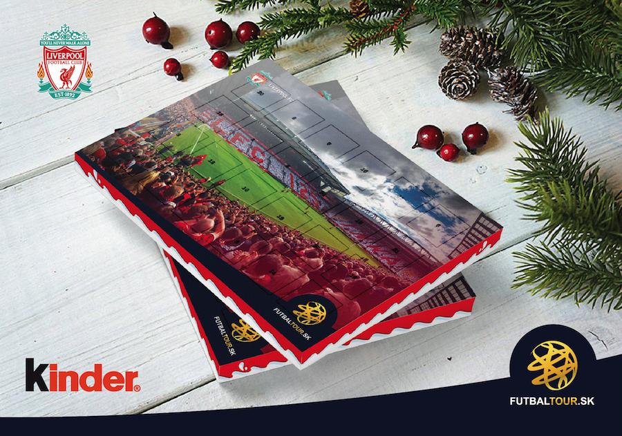 futbalovy adventny kalendar liverpool