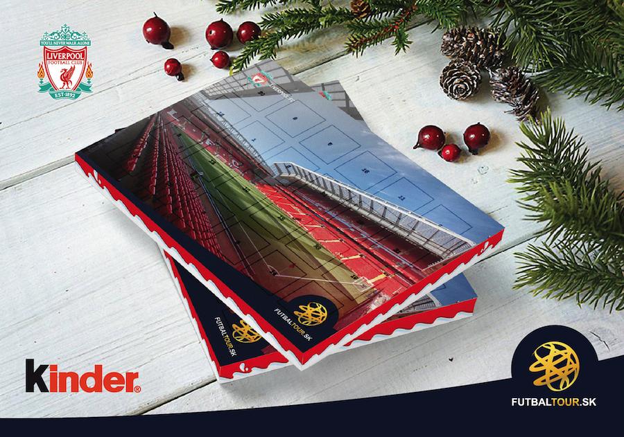 futbalovy adventny kalendar liverpool anfield