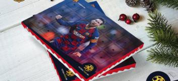 futbalovy adventny kalendar lionel messi barcelona